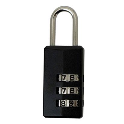 カギのないピギーバッグやバッグのファスナー引手などのロックに 3桁ダイヤル錠 PL-373 旅行用品 海外旅行便利グッズ ブラック マーケティング 新品未使用