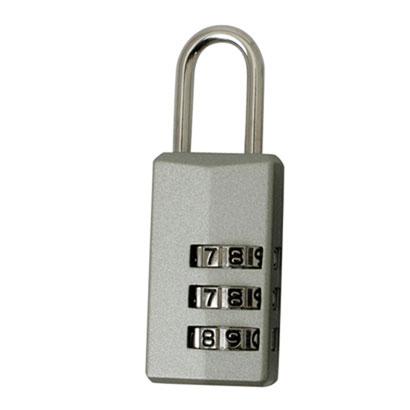 カギのないピギーバッグやバッグのファスナー引手などのロックに 3桁ダイヤル錠 PL-373 シルバー 付与 半額 海外旅行便利グッズ 旅行用品