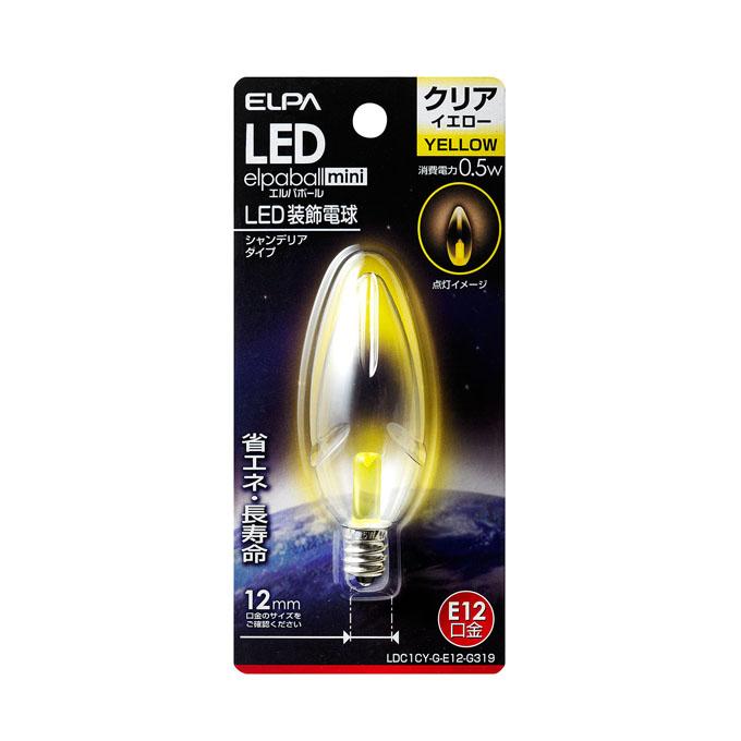 LEDシャンデリア球 ついに再販開始 商い E12 LDC1CY-G-E12-G319 10P03Dec16 エルパ ELPA