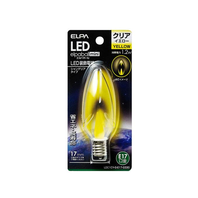 LEDシャンデリア球 E17 LDC1CY-G-E17-G330 ELPA 開店祝い 10P03Dec16 安い エルパ