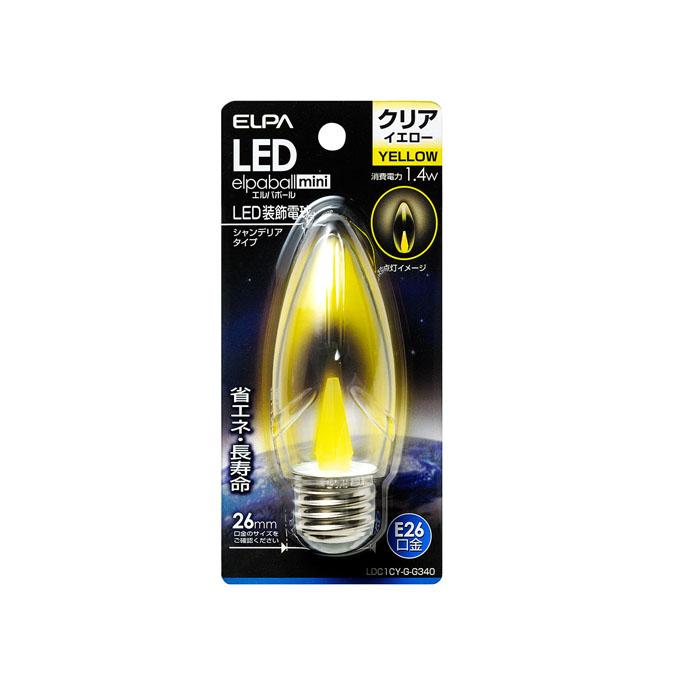正規逆輸入品 LEDシャンデリア球 E26 LDC1CY-G-G340 10P03Dec16 エルパ 日本未発売 ELPA