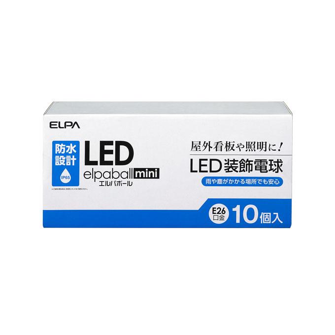 【送料無料】ELPA(エルパ) LED装飾電球 サイン球形 防水型 E26 クリア昼白色相当 10個入LDS1CN-G-GWP905-10P【10P03Dec16】【smtb-u】【送料込み】