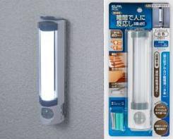 センサーとライト照射部が360度回転し好きな方向に向けることができます。 ELPA(エルパ) LEDセンサー付ライト 乾電池タイプ PM-L255