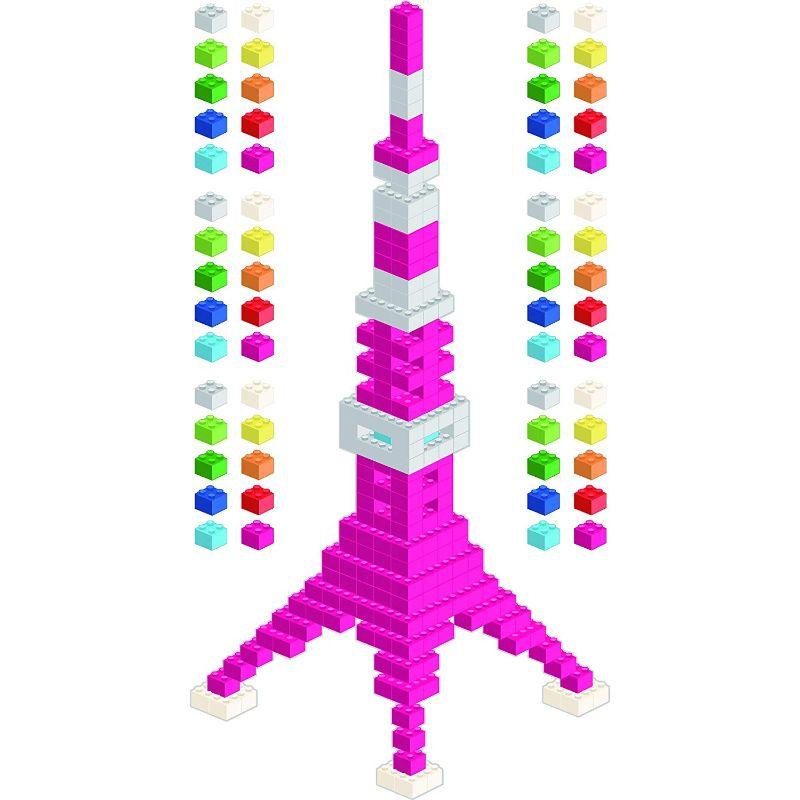 【送料無料】東京ステッカー/ブロック・タワー/Mサイズ/パープル【10P03Dec16】【smtb-u】【送料込み】