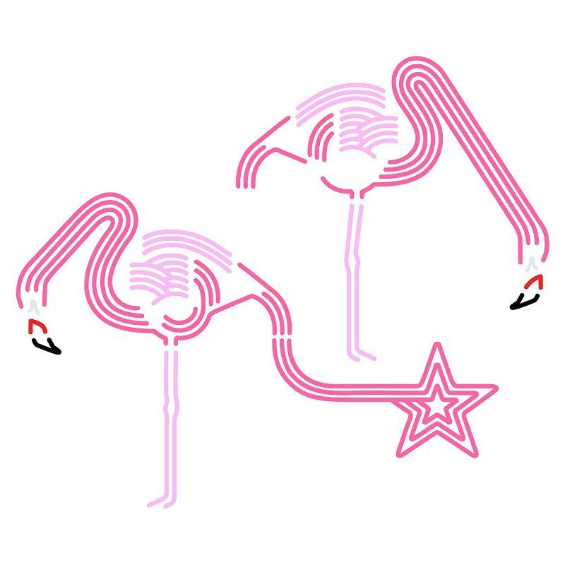 【送料無料】東京ステッカー/フラミンゴ ドリンク/Mサイズ/ピンク【10P03Dec16】【smtb-u】【送料込み】