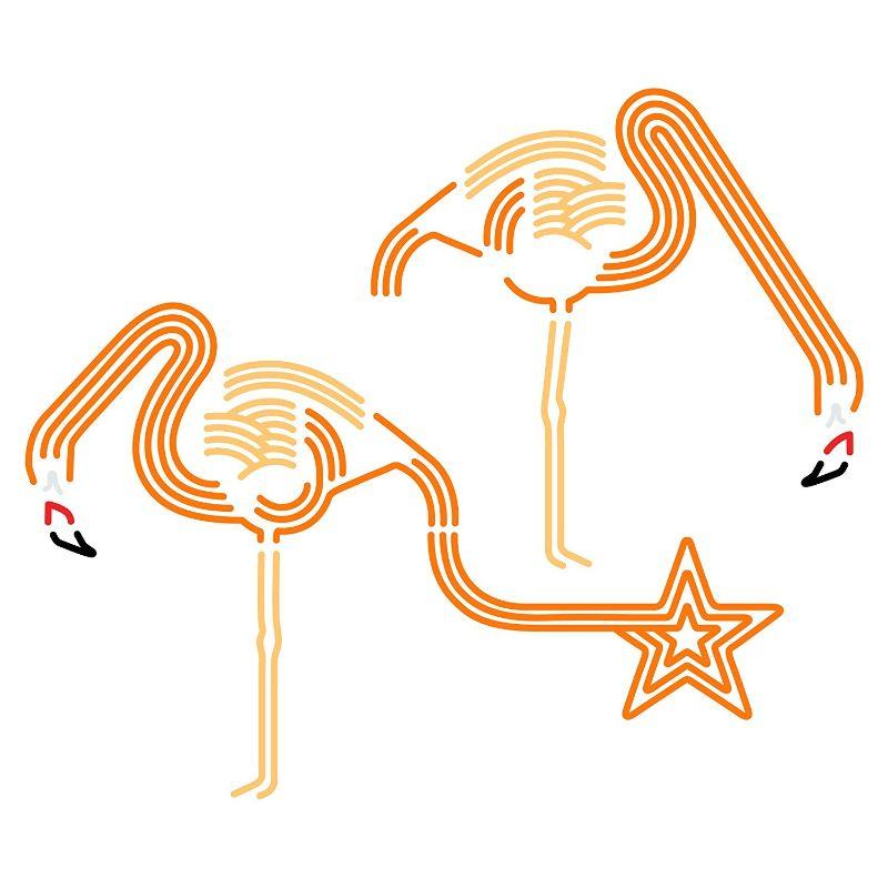 【送料無料】東京ステッカー/フラミンゴ ドリンク/Lサイズ/オレンジ【10P03Dec16】【smtb-u】【送料込み】