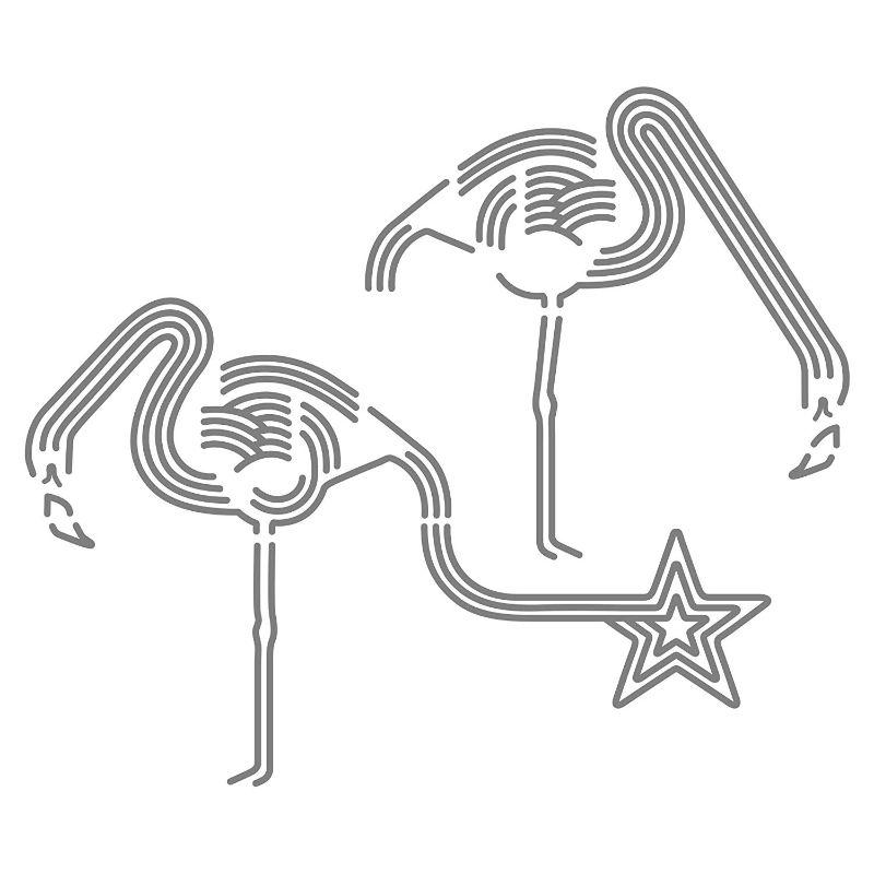 【送料無料】東京ステッカー/フラミンゴ ドリンク/Lサイズ/グレー【10P03Dec16】【smtb-u】【送料込み】