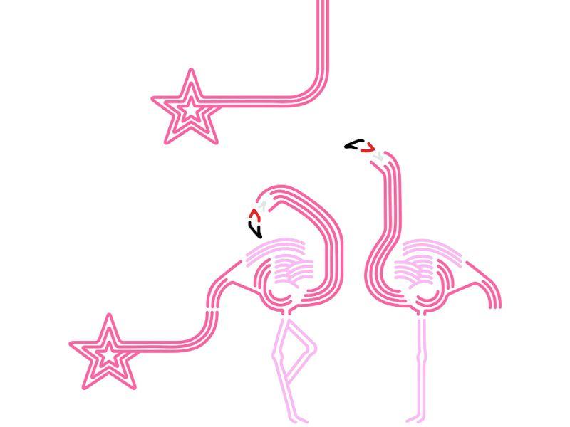 【送料無料】東京ステッカー/フラミンゴ ルック/Lサイズ/ピンク【10P03Dec16】【smtb-u】【送料込み】