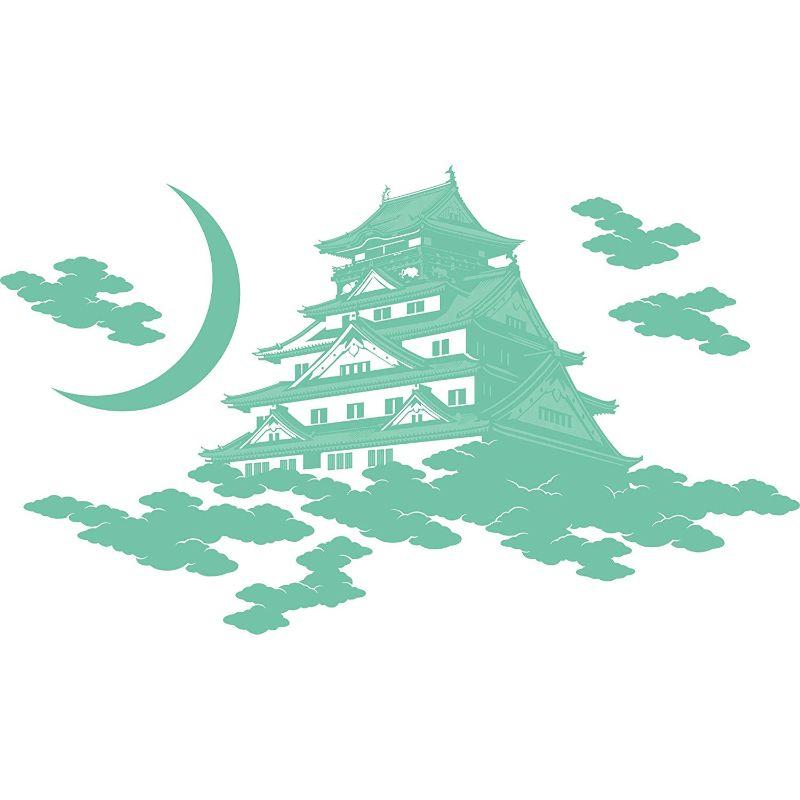 【送料無料】東京ステッカー/大阪城/Mサイズ/水浅黄【10P03Dec16】【smtb-u】【送料込み】