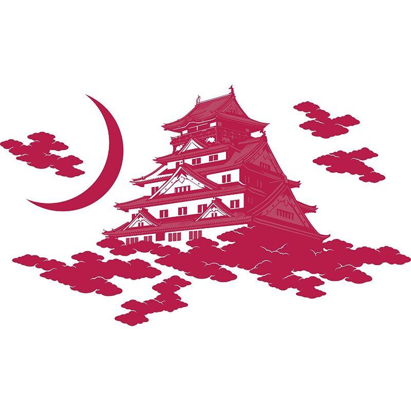 【送料無料】東京ステッカー/大阪城/Lサイズ/赤紅【10P03Dec16】【smtb-u】【送料込み】