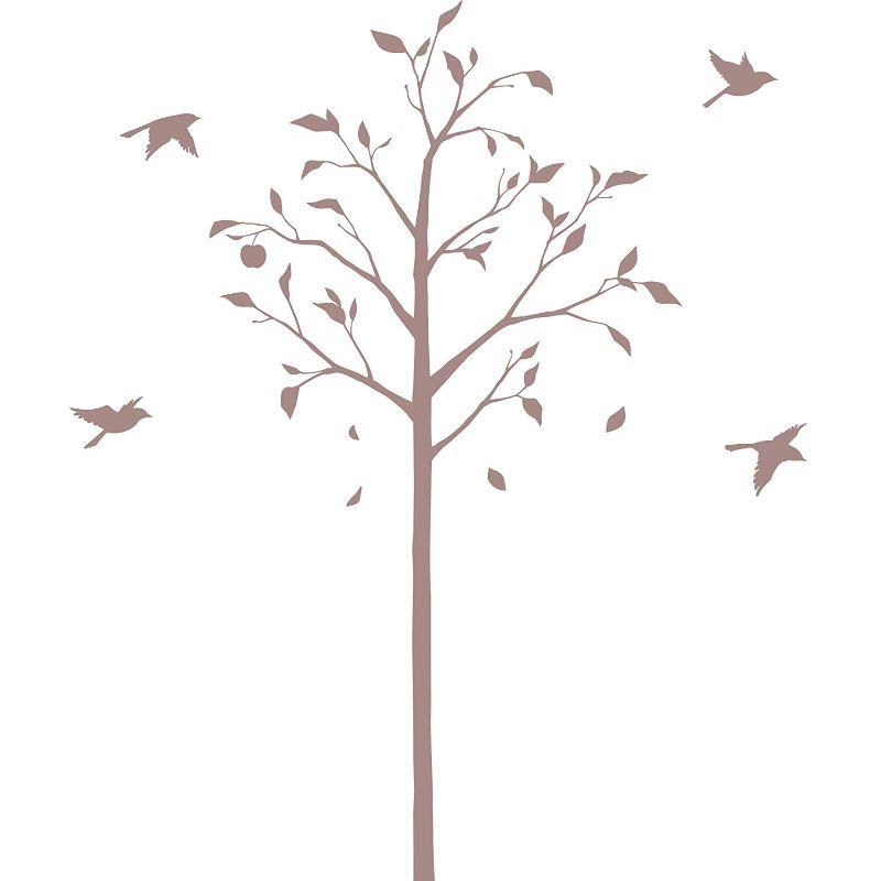 【送料無料】東京ステッカー/林檎の木と小鳥/Mサイズ/ベージュ【10P03Dec16】【smtb-u】【送料込み】