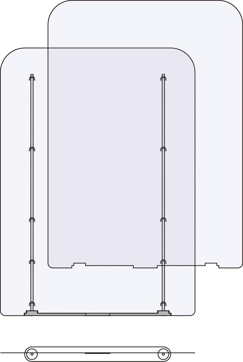 【送料無料】飛散感染・防止 自立型簡易遮断フィルム W400mmサイズ(スペアフィルム1枚付) 3枚セット SSF-400F2-3P MTO【smtb-u】【送料込み】