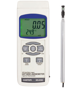 【送料無料】カスタム SDカードスロット風速計 WS-03SD【10P03Dec16】【smtb-u】【送料込み】