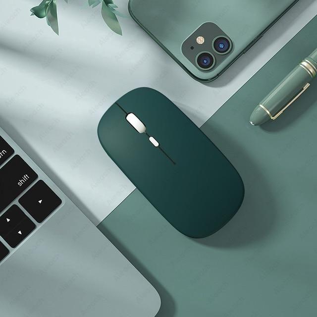 Bluetooth マウス 本店 ワイヤレス 激安通販 ワイヤレスマウス iPad タブレット - ダークグリーン 在庫品