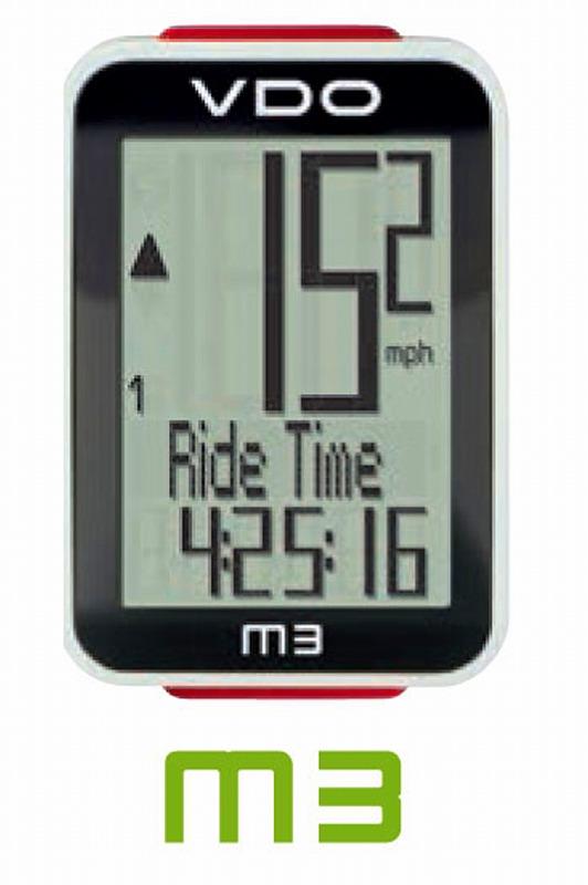 ワイヤレスサイクルコンピューター M3 WL【VDO】【バーディオー】【スピードメーター】【自転車】: