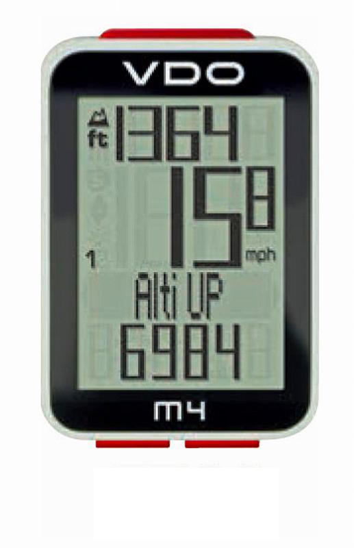 ワイヤレスサイクルコンピューター M4 WL 【送料無料】 【VDO】【バーディオー】【スピードメーター】【自転車】: