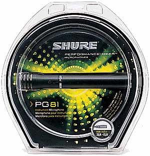 【低価格コンデンサーマイク】SHURE PG81