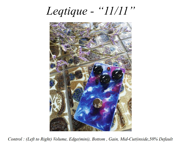 【在庫あり、即日出荷】Leqtique 11/11 〈レクティーク・イレブン・イレブン・ディストーション〉 【KK9N0D18P】