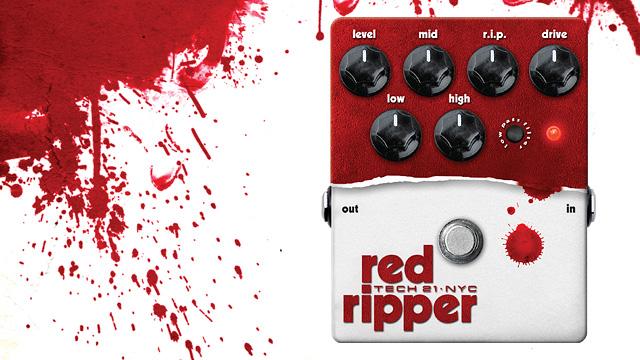 TECH21 SANSAMP red ripper (レッド・リッパー)ベースファズ
