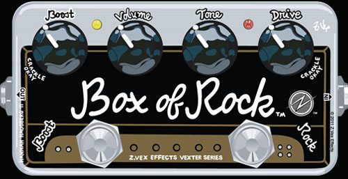 【限定特価!】【在庫有り・即出荷】ZVEX (z.vex) BOX OF ROCK Vexter Series