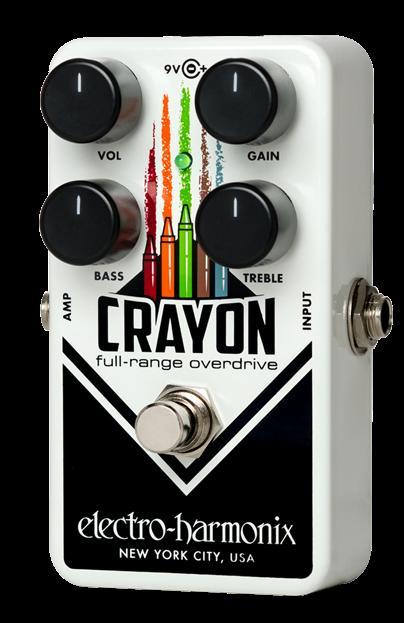 【在庫あり・即日出荷】Electro-Harmonix Crayon (BK/デザインA) Full Range Overdrive (エレハモ・フルレンジ・オーバードライブ・クレヨン)【KK9N0D18P】