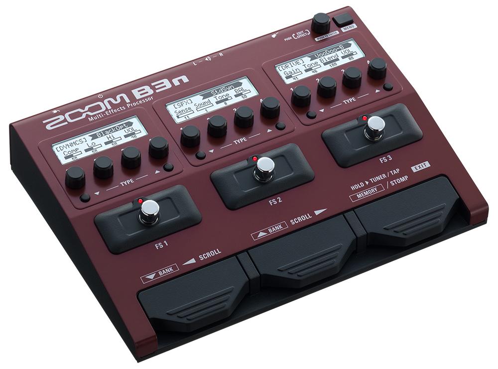 【お買い物マラソン実施!9日20:00~16日1:59迄】【在庫あり・即日出荷】ZOOM《ベース用マルチ・エフェクター&アンプ・シミュレーター》B3n B3next Multi-Effects Processor for Bass (ズーム)B-3n 【KK9N0D18P】