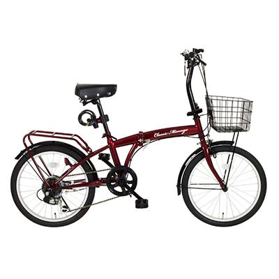 MG-CM206 折畳み 6段変速 自転車 【メーカー直送】【カードOK】 365(ミムゴ) Classic Mimugo(クラッシックミムゴ)・商品サイズ:20インチ・サドル高さ:約70~87cm・商品重量:約17kg・材質:スチール(リム:アルミ合金)【KK9N0D18P】