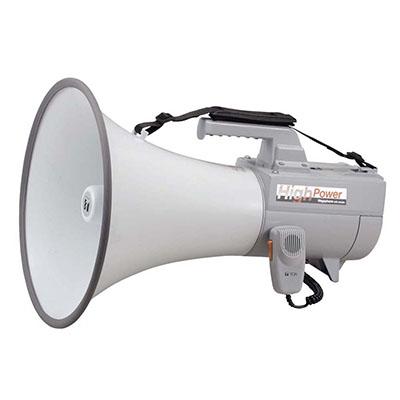 ※5 ホイッスル音付 TOA マイクロホン部に抗菌処理 大型メガホン 【送料無料】【カードOK】 【KK9N0D18P】 最大出力45W ショルダーメガホン(30W) ER-2130W