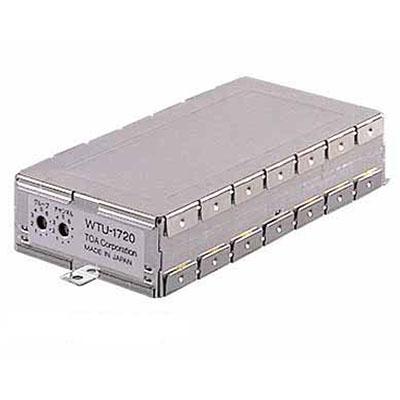 WTU-1720 シングルワイヤレスチューナーユニット ※2 【送料無料】 TOA・晶制御PLLシンセサイザー方式 【KK9N0D18P】