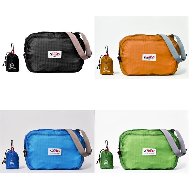 30デニールの薄いリップストップナイロンを使用 NEW売り切れる前に☆ スーパーセール お買得 お買い物マラソン ポイント消化 GE-1404 Pocketable ショルダーバッグ GERRY ポケッタブル ジェリー アウトドア 送料無料 鞄