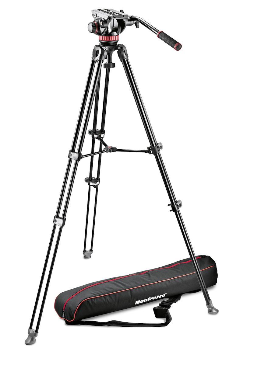 大人気 マンフロット 三脚 manfrotto 雲台 撮影機材 撮影キット ビデオキット ツイン3段アルミ カメラ MVK502AM-1 Manfrotto MSタイプ アウトレット 卓越