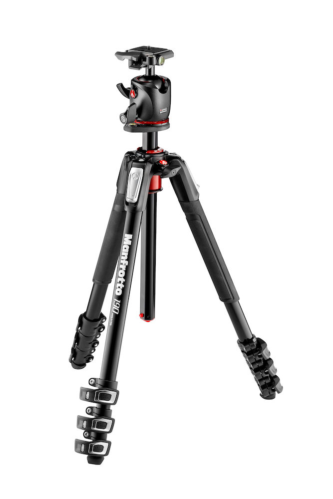 100%品質保証 190プロアルミニウム三脚4段 Q2付きボール雲台セット MK190XPRO4-BHQ2 manfrotto 撮影機材 買い物 プロフェッショナル マンフロット アウトレット