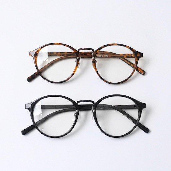 ボストンタイプ 伊達メガネ (ケース付き)   レディース メンズ 丸メガネ だてめがね