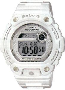 カシオ BABY-G スポーツウォッチ 20気圧防水 レディース かわいい デジタル 腕時計 ホワイト 白(BLX-100-7JF) タイドグラフ 月齢・ムーンデータ 1/100秒ストップウォッチ ELライト付き baby-g ランニングウォッチ CASIO ベビーg マラソン ランニング 時計