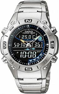 カシオ スポーツウォッチ 10気圧防水 デジタル アナログ 魚釣り 腕時計(AM09P-3805)月齢 ムーンデータ 温度計 ELライト付き フィッシングギア 釣り 時計 ランニングウォッチ CASIO 海外限定 マラソン ランニング 時計 アウトドアウォッチ