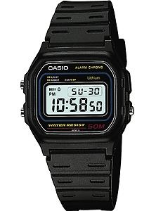 1591d1e09a カシオ スポーツウォッチ 5気圧防水 メンズ デジタル 腕時計 ブラック 黒 (W14P-3808)