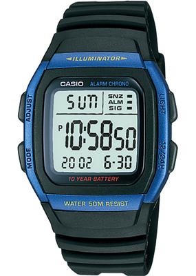 送料無料 スポーツウォッチ ランニング 新商品 ウォッチ 時計 フルオートカレンダー スヌーズ機能 ストップウォッチ付き腕時計 カシオ 5気圧防水 メンズ デジタル ストップウォッチ 10年電池 海外限定 腕時計 デュアルタイム CASIO マラソン LEDライト付き W11P-6505BLU 日本未発売 ランニングウォッチ 有名な