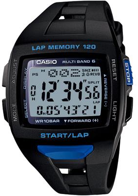 カシオ 電波時計 スポーツウォッチ 10気圧防水 デジタル ソーラー電波 腕時計(PH12JU01BKBU)電波ソーラー ストップウォッチ 120ラップ LEDライト付き ランニングウォッチ CASIO ランナーズ マラソン ランニング 時計 ランナー ウォッチ