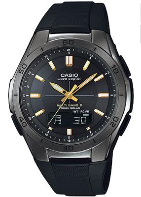 カシオ 電波時計 スポーツウォッチ 10気圧防水 メンズ デジタル アナログ ソーラー電波 腕時計 ブラック 黒(WV13AP08BKBK)電波ソーラー 1/100秒ストップウォッチ LEDライト付き ランニングウォッチ カシオ CASIO マラソン ランニング 時計