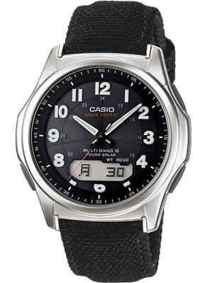 カシオ 電波時計 スポーツウォッチ 5気圧防水 メンズ デジタル アナログ ソーラー電波 腕時計(WV13FB11BLK)アラビア数字 電波ソーラー ストップウォッチ LEDライト付き ランニングウォッチ CASIO アウトドア マラソン ランニング 時計