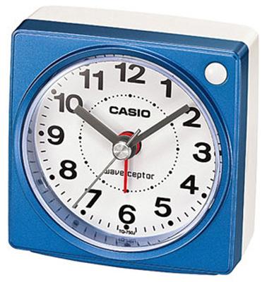 送料無料 夜間でも見やすい ライト付き 電子音アラーム 秒針のコチコチ音がしない 秒針停止機能 静かな 目覚まし時計 旅行用 カシオ 電波時計 コンパクト 置時計 アナログ おしゃれな ブルー 日本産 電波 青 文字盤 小型 アラーム 置き時計 スヌーズ 見やすい CASIO CL15JU31 ホワイト 白 アラビア数字 SEAL限定商品 秒針 音がしない