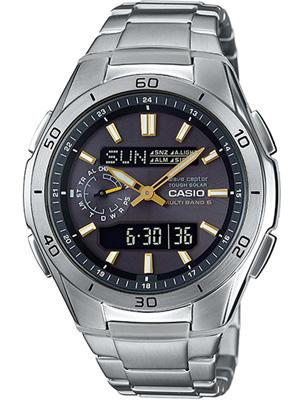 カシオ 電波時計 スポーツウォッチ 10気圧防水 メンズ デジタル アナログ ソーラー電波 腕時計(WV17AU04BLK)電波ソーラー カレンダー ストップウォッチ タイマー LEDライト付き ランニングウォッチ CASIO マラソン ランニング 時計