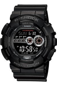 カシオ Gショック G-SHOCK スポーツウォッチ 20気圧防水 メンズ デジタル 腕時計 g-shock ブラック 黒 (GD-100-1BJF) 1/100秒ストップウォッチ ワールドタイム LEDライト付き ランニングウォッチ カシオ CASIO マラソン ランニング ウォッチ 時計