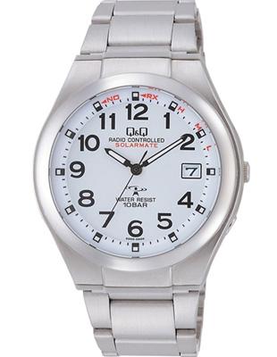 シチズン 電波時計 スポーツウォッチ 10気圧防水 メンズ ソーラー アナログ 腕時計 ドレスウォッチ メタル ステンレスバンド(HGBQ15-001WHT)電波ソーラー 日付 カレンダー マラソン ランニング 時計 ドレスウォッチ 腕時計