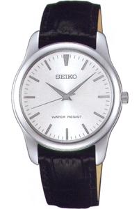 セイコー スピリット限定モデル 日常生活防水 メンズ アナログ 腕時計 ドレスウォッチ シルバー 銀(SCXP031) 革ベルト ブラック 黒 レザー 本革カーフ 革バンド SEIKO MENS ANALOG カジュアル ドレスウォッチ 腕時計
