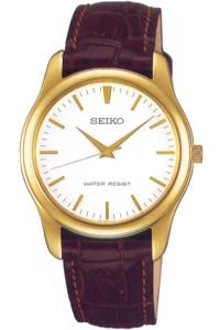 セイコー スピリット限定モデル 日常生活防水 メンズ アナログ 腕時計 ドレスウォッチ ゴールド 金(SCXP032)革ベルト ブラウン 茶 レザー 本革カーフ 革バンド SEIKO MENS ANALOG カジュアル ドレスウォッチ 腕時計