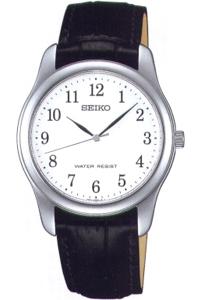 セイコー スピリット限定モデル 日常生活防水 メンズ アナログ 腕時計 ドレスウォッチ シルバー 銀(SCXP033)アラビア数字 革ベルト ブラック 黒 レザー 本革カーフ 革バンド SEIKO MENS ANALOG カジュアル ドレスウォッチ 腕時計