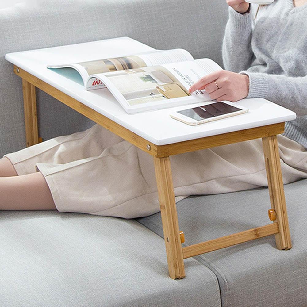 テーブル 折りたたみデスク ノ一トパソコンデスク オフィスデスク  ベッドテーブル  ローテーブル 竹製 折りたたみ カードスロット 角度調節可能