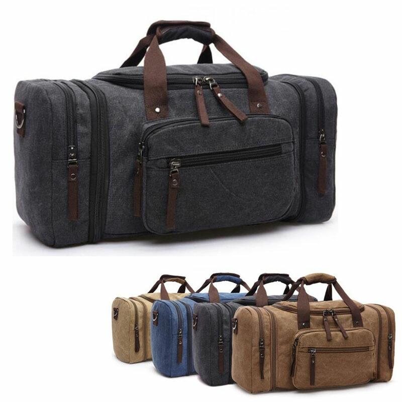 ボストンバッグ 旅行鞄かばん 大容量 上質 キャンバス 帆布 メンズ 2WAY ショルダー付き 旅行 出張 4日3泊 底防滑ゴム付き 全5色