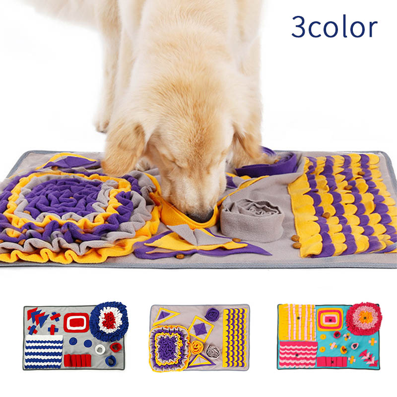 ペット用品  ペットマット 犬 訓練毛布 ペット 嗅覚訓練 餌入れおもちゃ 犬おもちゃ 噛むおもちゃ 遊び 犬猫兼用 運動不足 ストレス解消